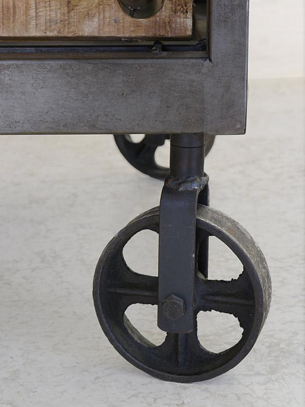Detailansicht von dem Eisenrad
