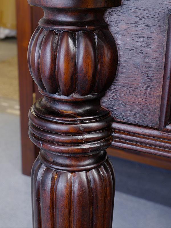 Detailansicht von der Tischbein