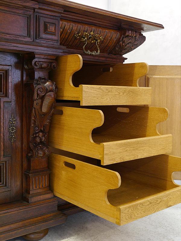 buffet schrank k chenschrank gr nderzeit um 1880 eiche massiv b 203 cm 8614 m bel schr nke. Black Bedroom Furniture Sets. Home Design Ideas