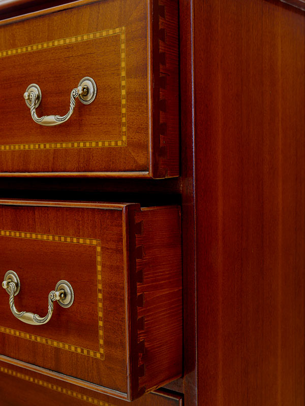 Detailansicht von den Schubladen