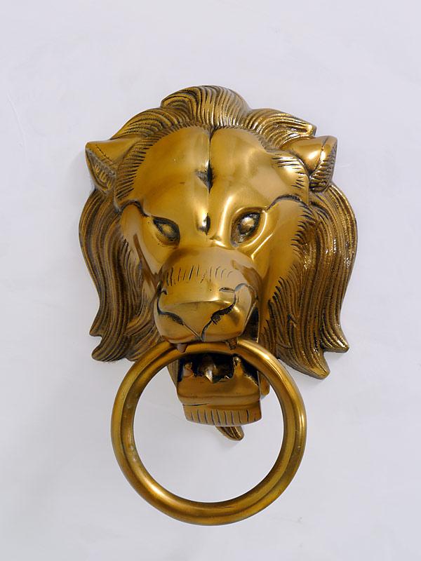 Türklopfer Löwenkopf aus Aluminium