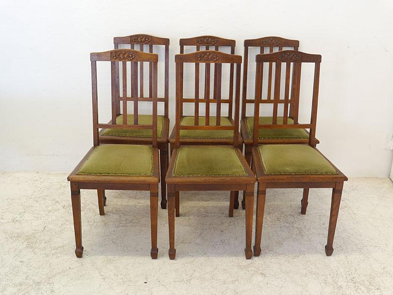 Essgruppe Tischgruppe Esstisch 6 Stühle Antik um 1920