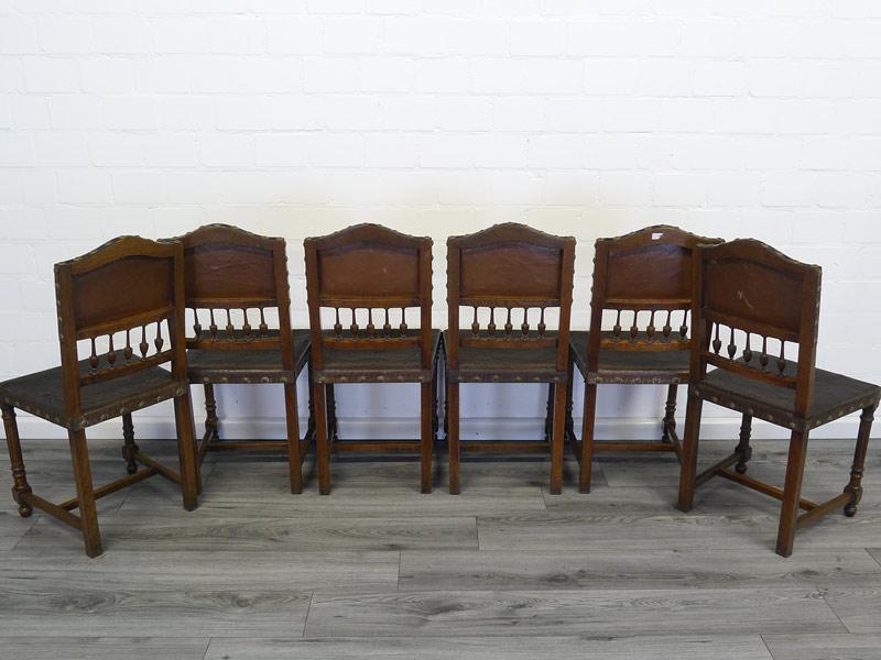 Rückseite von allen 6 Stühlen