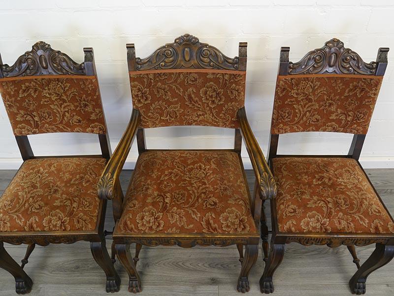 Draufsicht auf alle 3 Stühlen