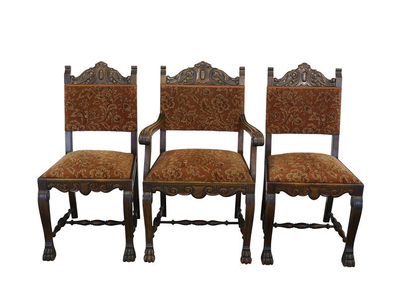 3 antike Stühle aus Nussbaum
