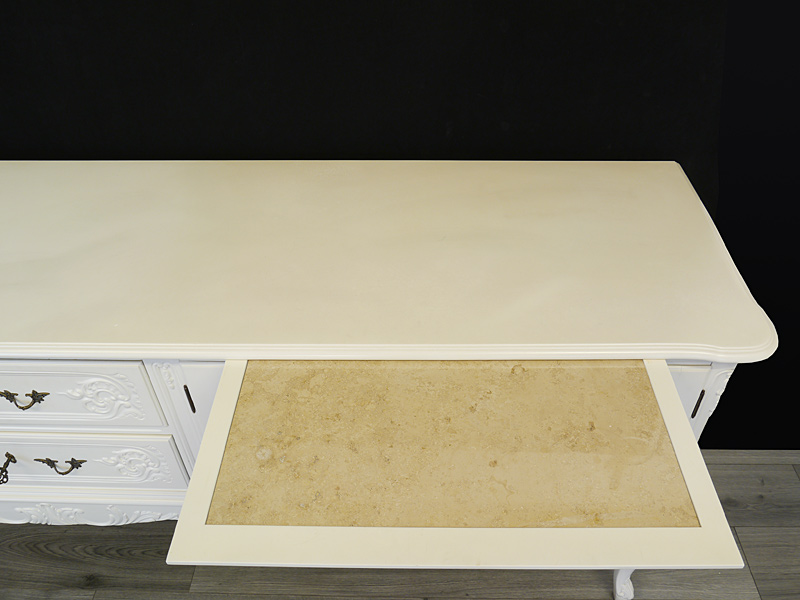 Tablettschub mit Marmorplatte