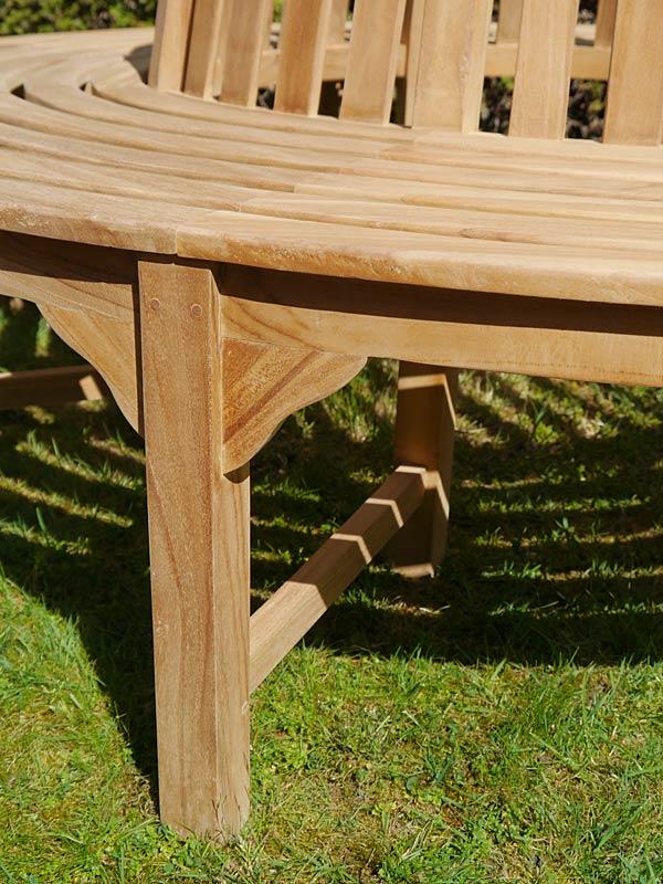 Detailansicht von der Sitzbank