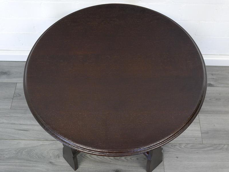 Draufsicht auf die Tischfläche