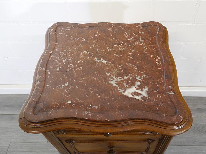 Marmorplatte kaminrotweiß geädert