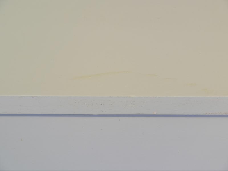 Detailansicht von dem Feuchtigkeitsflecken