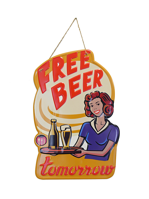 Free Beer Tomorrow Blechschild
