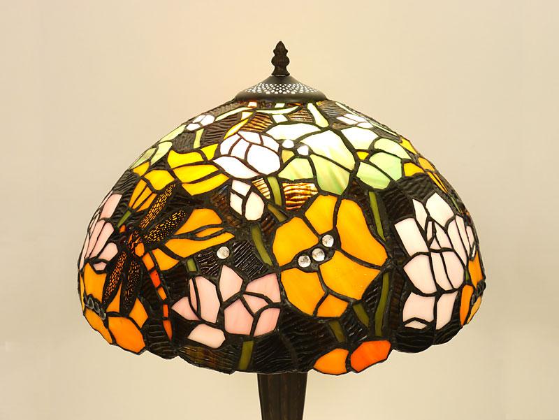 Lampenschirm bei eingeschaltetem Licht