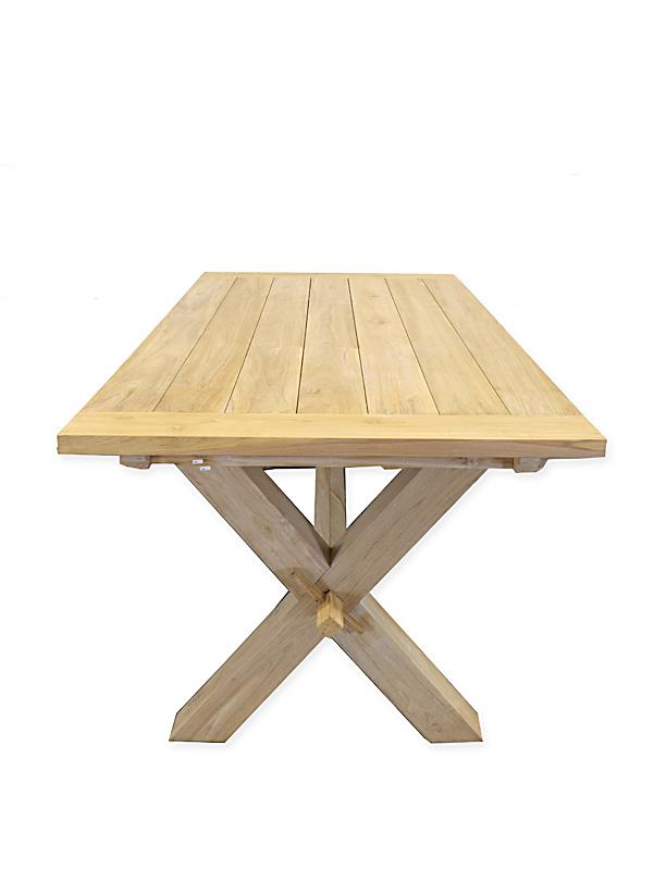 Seitenansicht des Tisches