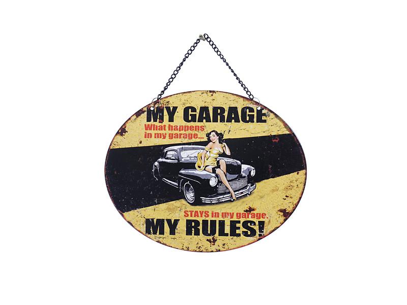 Blechschild für die Garage