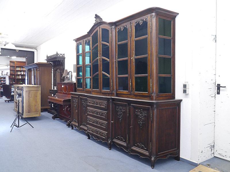 Imposanter Bücherschrank antik Louis Philippe um 1870