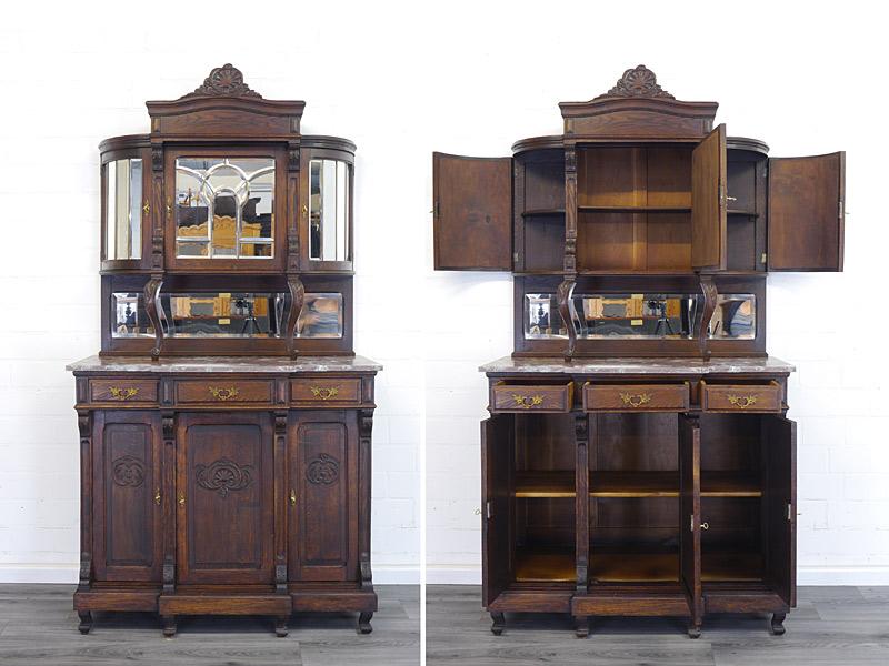 Rundbogen-Buffet antik um 1900
