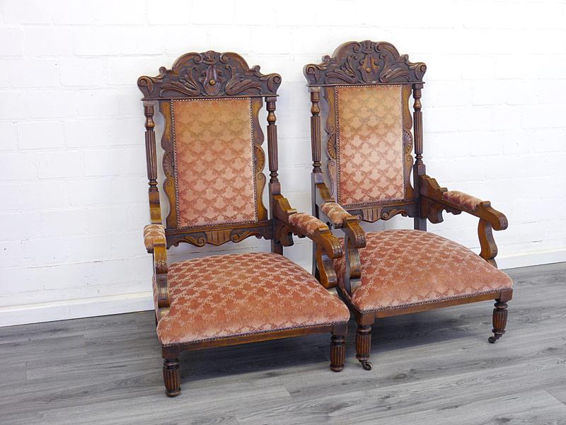 2 antike Sessel Gründerzeit