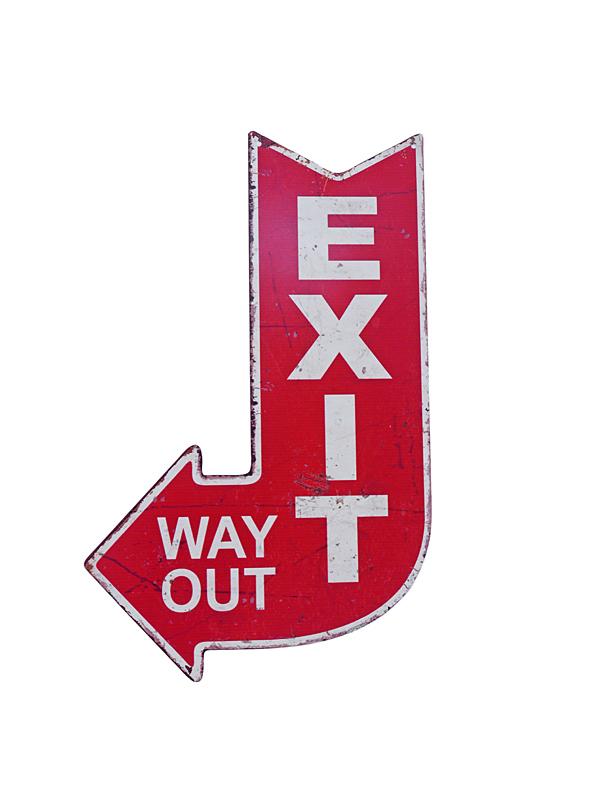 Blechschild Exit Way Out