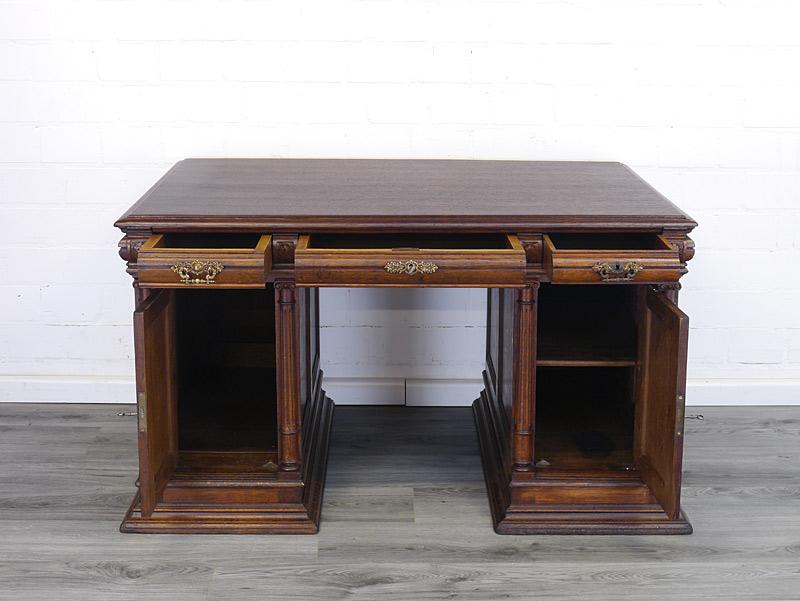 Gründerzeit Schreibtisch aus Eiche
