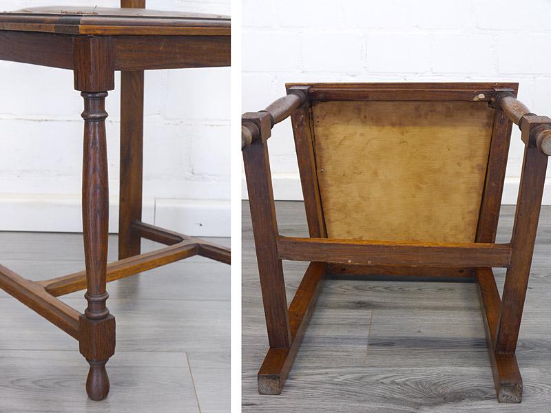 Detailansicht von einem Stuhl