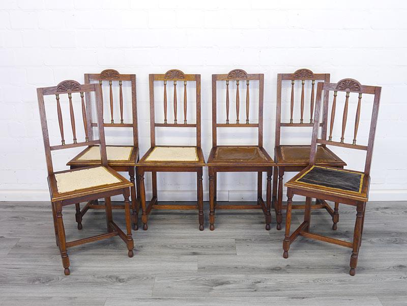 6 Stühle antik