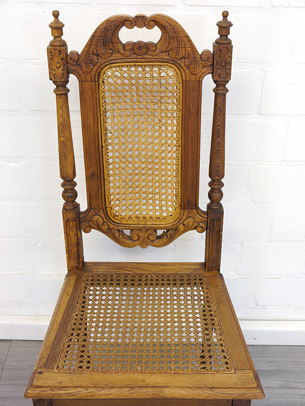 Draufsicht auf einen Stuhl