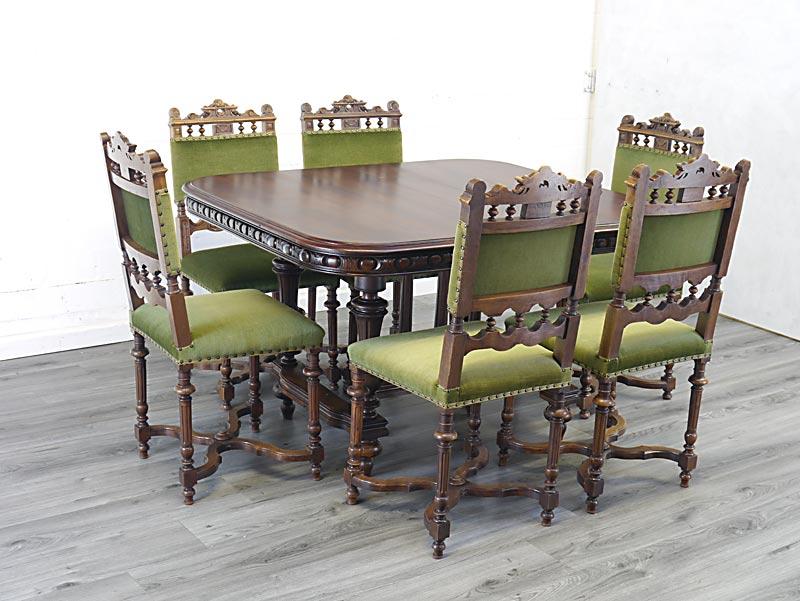 Gründerzeit Tischgruppe um 1880