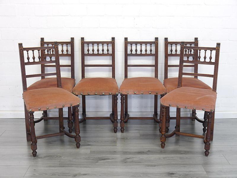 6 Stühle mit Polsterung