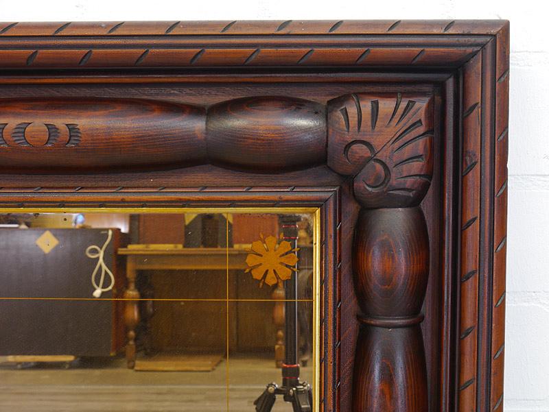 Detailansicht von dem Holzrahmen