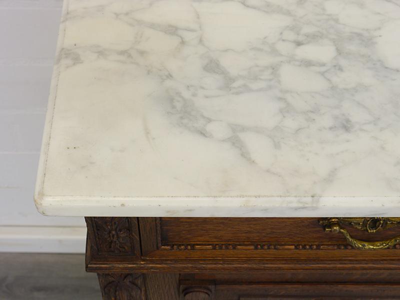 Detailansicht von der Marmorplatte